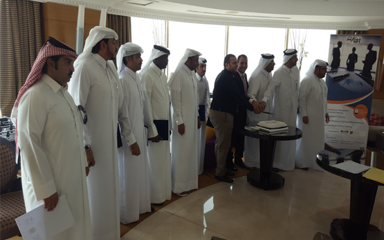 Graduation for leading employes from one of Qatari Ministry